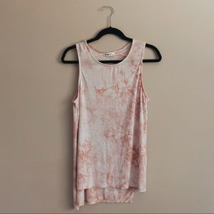Ginger G | Acid Washed Peach Tank Top